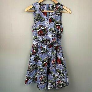 Topshop Island Print Dress